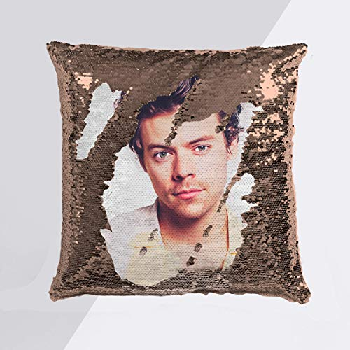 Harry Styles Art Style sequin cushion cover
