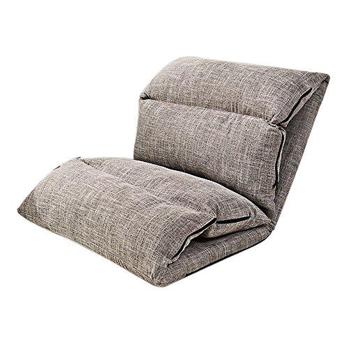 Sofá perezoso cama plegable individual silla dormitorio sofá pequeño sofá flotante ventana Mat puf (color: C)
