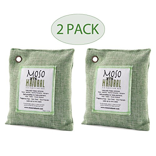 MOSO NATURAL GTC1012(A) Air Purifying Bag for Home/Car 200g (Pack of 2)