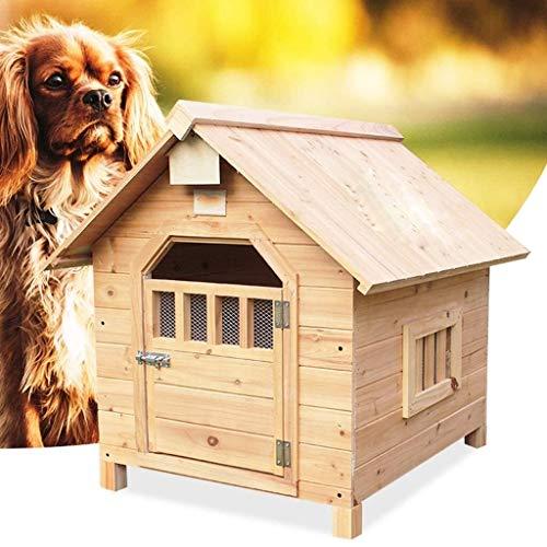 JTKDL Fin del cajón del Perro Tabla, Madera Alambre jaulas for Mascotas con Puertas, diseño Moderno casa de Perro, Chew-Proof, de Madera Maciza de Cedro Gris Gato de la Perrera casa Camas de Animales