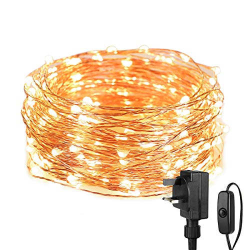 Lepro Fairy Lights Plug in, 10M 100 LED Warm White Copper Wire Lights, Mains Powered String Lights for Indoor Outdoor, Christmas Tree, Teen Girls Bedroom, Wall, Room Decor and More