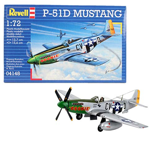 Disney Aviones Revell-P-51D Mustang, Kit de Modelo, Escala 1:72 (4148) (04148), Multicolor