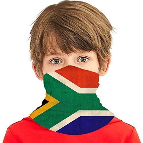 LOSAYM Fgjfdjj Vintage Sudáfrica bandera cara cubierta boca bufanda reutilizable Bandanas cuello polaina para niños para polvo sol UV Quic