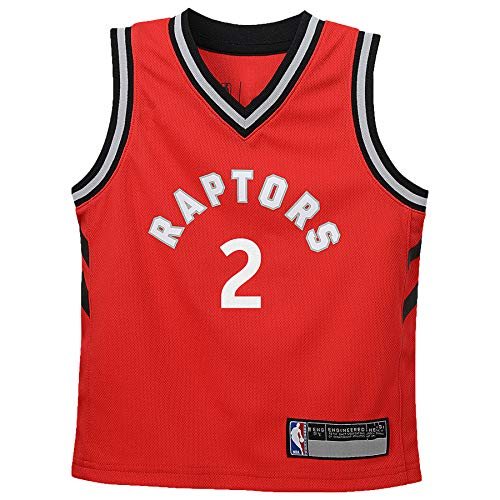 NBA Kids 4-7 Official Name and Number Replica Home Alternate Road Player Jersey (4, Kawhi Leonard Toronto Raptors Red)
