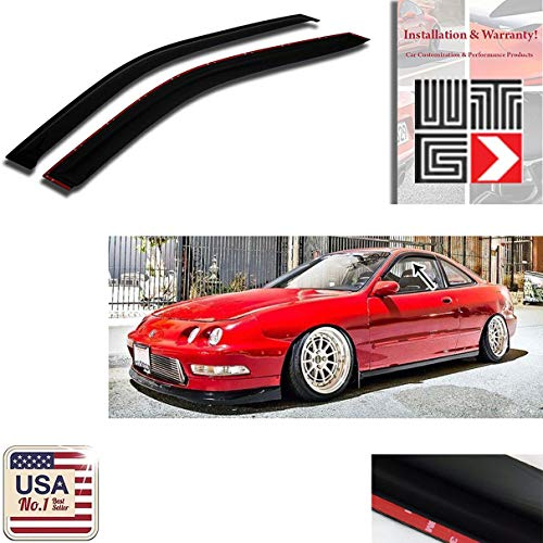 VITO 2pcs Side Window Deflectors Original Window Visors for 1994-2001 Acura Integra 2 Door Vent Visor Sun/Rain Guard