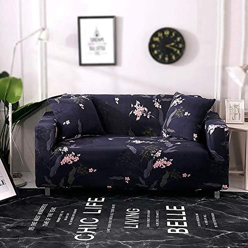 HFTYCC Funda elástica para sofá de 1 a 4 plazas - Fundas de sofá de Spandex de poliéster elástico Estampado - de 1 Plaza_Elegant