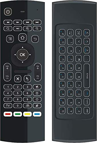 DroiX VIP V2 3-in-1 Backlight Remote Wireless 2.4Ghz Air-Mouse with QWERTY Keyboard for Android TV BOX, T8, TX2, TX3, Raspberry Pi, Minix, Fire TV, NVIDIA Shield