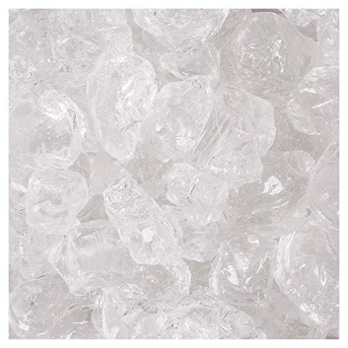 Glassteine Glasbrocken 20-40mm 1 kg farblos Dekoeis, Deko Eiswürfel 1000 Gramm. Natur
