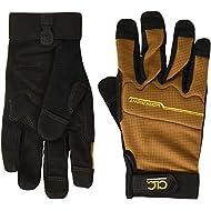 CLC Custom Leathercraft 124M Workright Flex Grip Work Gloves, Shrink Resistant, Improved Dexterity, Tough, Stretchable, Excellent Grip,Black,Medium