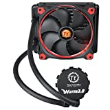 Thermaltake CL-W150-PL14RE-A Pacific Water 3.0 Riing Red LED 140 mm CPU Water Cooler - Black