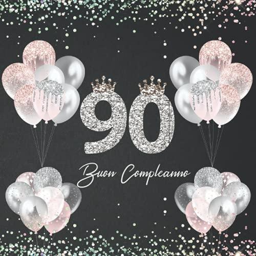 album fotografico 90 anni Il libro d'oro dei miei 90 anni - Buon Compleanno: degli ospiti. Idea regalo decorazioni e accessori per la festa di compleanno 90 anni