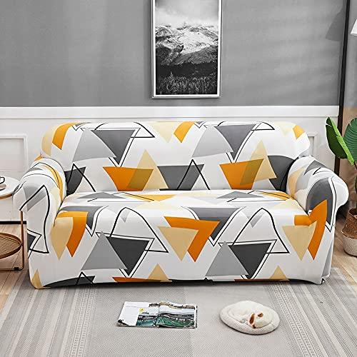 Rutigt sofföverdrag för vardagsrum elastisk stretch geometri överdrag Funda-soffa stolskydd möbelskydd A34 4-sits