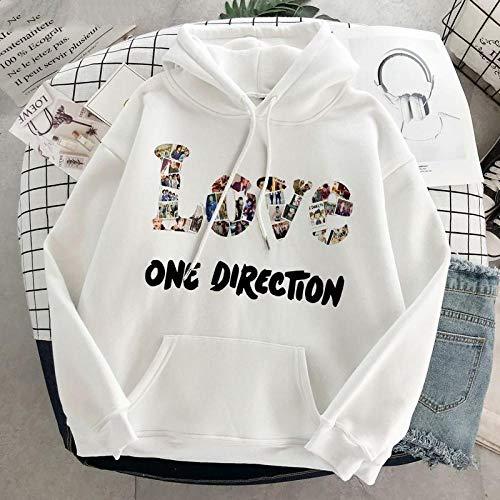 N-N Hoodie Gothic One Direction Grafik Harry Styles Pullover PinkSweatshirt Kleidung Herbst Streetwear Frauen Bewerben Sie Sich für Sportpartys Clubs Urlaub etc-blue-Z60_XXL