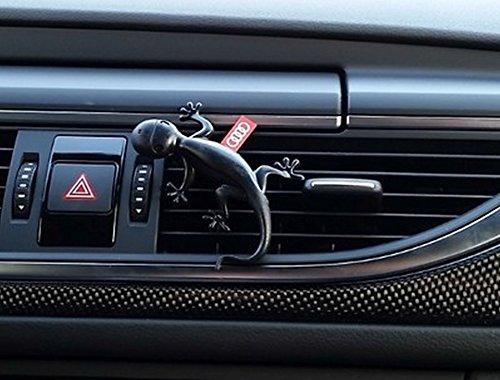 Audi Gecko Cockpit Lufterfrischer schwarz leicht holzig
