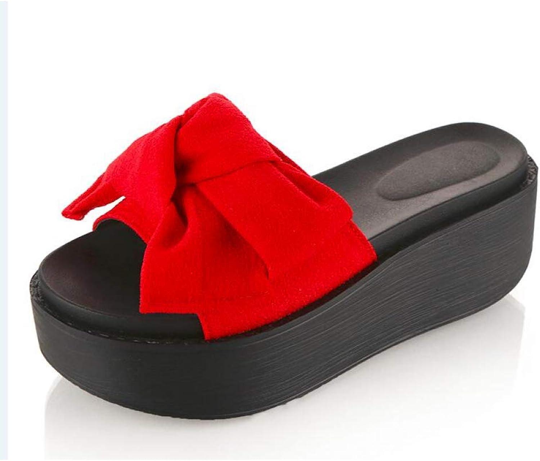 MEIZOKEN Woman Beach Flip Flops Summer Sandals Slip- Resistant Slippers Platform Sandals