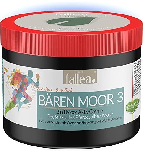 Fallea Bären Moor 3in1 Pferdesalbe mit Teufelskralle & Moor beruhigt Muskeln, Knie, Gelenke, Schultern uvm. Aktivgel hochdosiert & tiefenwirksam mit natürlichen Extrakten 500ml