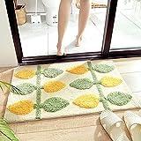 Beflockung Tür Teppichbodenmatten Zuhause Schlafzimmer Badezimmertür absorbierende rutschfeste verdickte Fußmatten 45CMX65CM f021-4