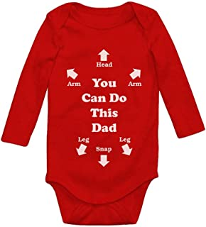 You Can Do This Dad Funny for New Dads Cute Baby Long Sleeve Bodysuit