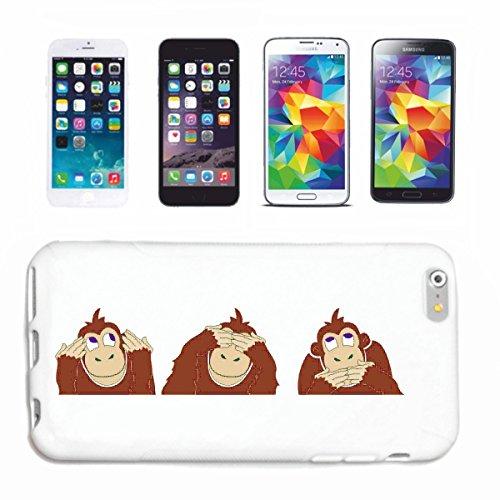 Telefoonhoes compatibel met iPhone 7 + Plus Drie apen Nix luisteren Nix zien Nix Zagen Cartoon Comic Tekenstrick Hardcase beschermhoes mobiele telefoon Cover Smart Co