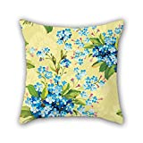 Pillow Covers of Flower for Valentine Festival Wedding Bar Seat Son Chair 18 X 18 Inches / 45 by 45 cm(Two Sides)