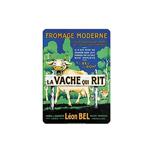 Editions Clouet 29227 - Petite Plaque métal 15x21 cm Vache Qui rit - Fromage Moderne
