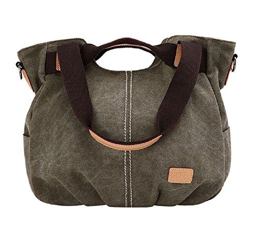 MiCoolker Womens Casual Canvas Top Handle Shoulder Messenger Bag Everyday Tote Handbag