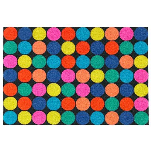 Paillasson - Tapis de porte multicolore - ronds de couleur 70
