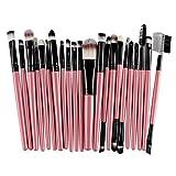 Clearance Makeup Set ! Pocciol Makeup Brush 22Pcs/Set Makeup Brush Tools Make-up Toiletry Kit Wool Make Up With 4 Colors (Pink)