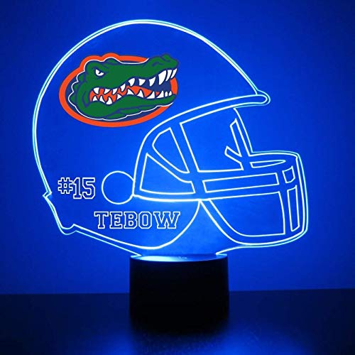Mirror Magic Store Florida Gators Football Helmet Sports Fan Lamp/Night Light - LED - Personalize for Free - Featuring Licensed Decal