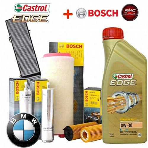 Kit de aceite Castrol Edge W-30L 4filtros Bosch (1457429252, 0450906457, 1457433589, 1987432402)