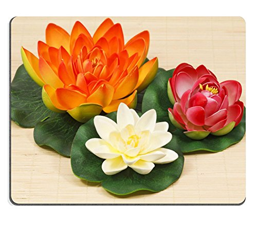MSD Caucho Natural Gaming Mousepad imagen ID: 9622562 Multicolor Water Lily Flowers On...