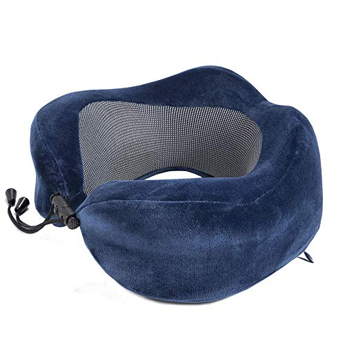 N/X Almohadas de Cuello en Forma de U de Espuma de Memoria Suave Rebote Lento Almohada de Viaje Espacial Cuello Almohada de Viaje de avión Cervical Reposacabezas
