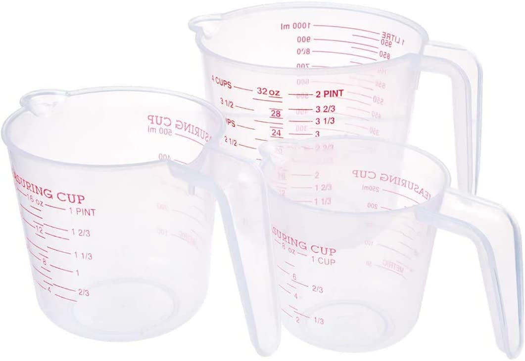 PENCK Plastic Graduated Pitcher Measuring 1 250ml Cups It is very popular Set High material 500ml