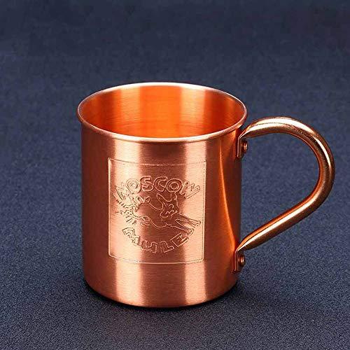 TBYGG gouden Cocktail onbreekbare bril, gehamerd stijl Drinkbekers Moskou Mule mokken met 100% koper - gehamerd stijl massief koper bekers met messing handgrepen ongeëvenaarde kou met gelast oor