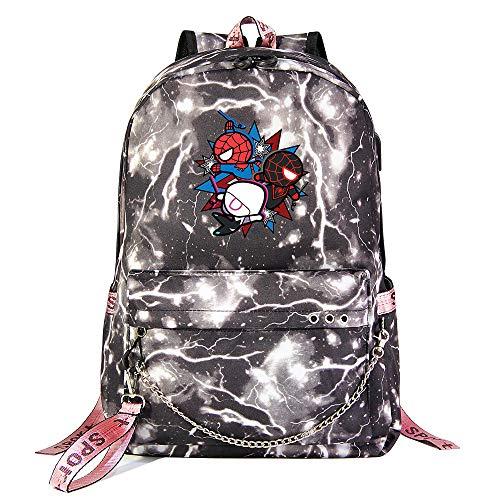 Venom Rucksack, Freizeit Mode Rucksack Junge multifunktionale Rucksack College Student Tasche Unisex Grey Lightning-2