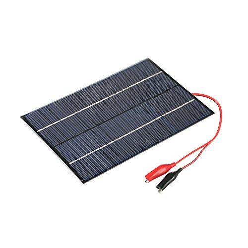 Preisvergleich Produktbild Decdeal 4.2W 18V Solarpanel Solarmodule mit Krokodilklemmen