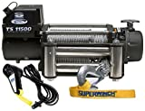 Superwinch 1511200 Tiger Shark 11.5, 12 VDC winch, 11,500 lb/5,216 kg capacity with roller...