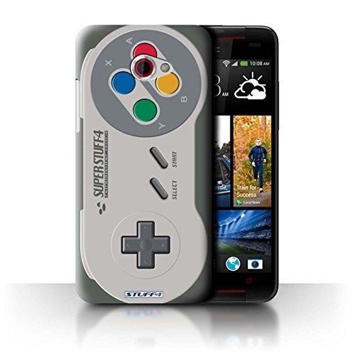 Hülle Für HTC Butterfly S Spielkonsolen Super Nintendo Design Transparent Ultra Dünn Klar Hart Schutz Handyhülle Case
