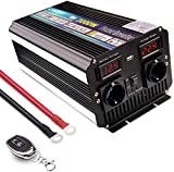 Yinleader Convertisseur 12v 220v 3000W Onde sinusoïdale modifiée onduleur USB LED (avec télécommande) /6000W surtension