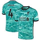 ACGG Vǐrgǐl Men Soccer Jersey Football Jersey 2021 European Cup Home Shirt/4# Green-M