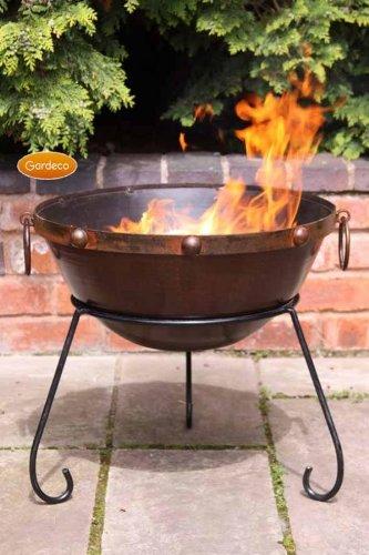 Gardeco Theydon Large Rustic Steel Fire Bowl