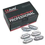 CKAuto P Style 1oz Lead Clip on Wheel Weights, Uncoated, 25Pcs/Box