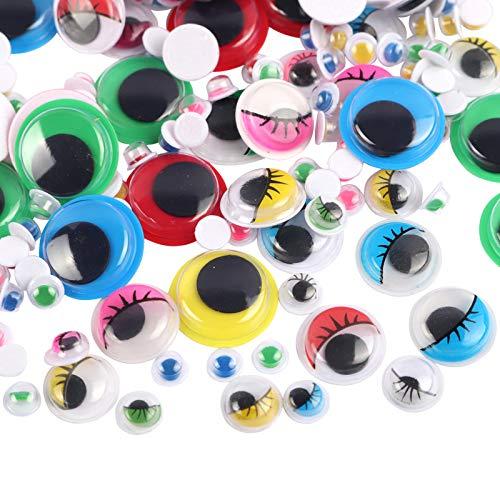Occhi di Bambola di Sicurezza in Plastica Occhi Bambola Giocattolo in Plastica Colorata Occhi di Autoadesivi Plastica Utilizzati per Fai da Te, Arte, Artigianato, Decorazioni, Giocattoli, (400 Pezzi)