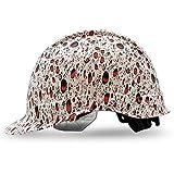 Hard Hat Construction OSHA Hardhats, Men Women Safety Helmet, Cap Style, 6 Point, Custom Classic Design, By ACERPAL, Crimson Red Rain