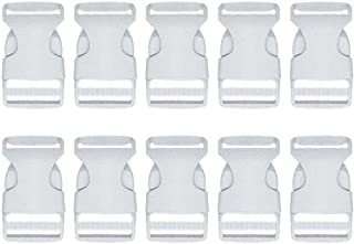Beaulegan Plastic Buckles 1 Inch (Pack of 10)- Quick Side Release for Luggage Straps, Pet Collar, Backpack Repairing - One Adjustable End, White