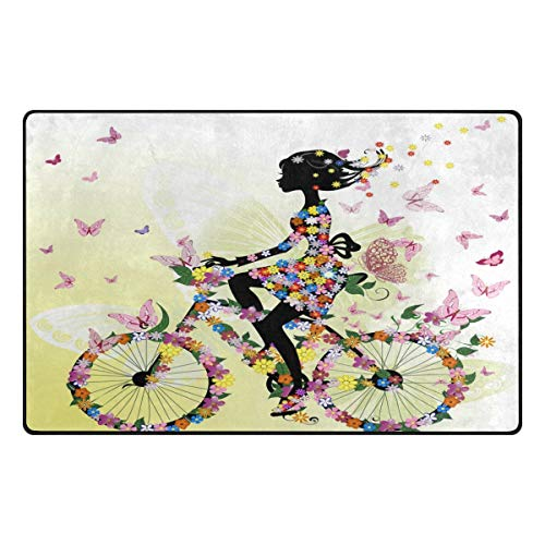 Tapijt 31 x 20 inch romantisch gedeelte meisjes vlinder fiets tapijt voor woonkamer slaapkamer 31x20 Inches Image 1279