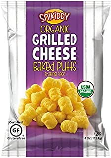 Snikiddy Organic Grilled Cheese Baked Puffs 4 oz. Bag (4 Bags)