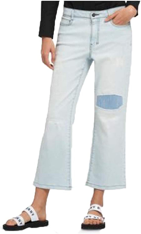 DKNY Womens Denim Light Wash Flare Jeans