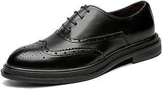 [ブウケ] メンズシューズ ビジネスシューズ メンズ 就活 痛くない 学生靴 防滑 幅広 カジュアルシューズ 紳士靴 ドレスシューズ 26cm 26.0cm 黒 茶