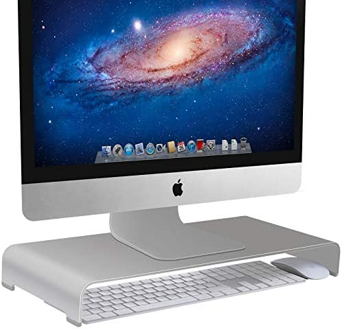 Vaydeer Aluminum Monitor Stand Computer Riser Universal Metal Desk Stand Base up to 27 inches product image